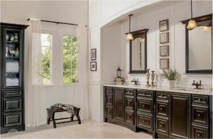 bathroom-cabinets-in- chattanooga-tn-black-shiny-vanity