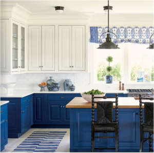 kitchen-design-chattanooga-blue-cabinets-white-kitchen