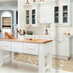 white-kitchen-cabinets-island- Chattanooga-tn