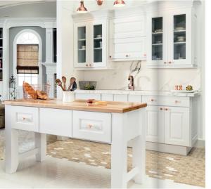 white-kitchen-cabinets-island- Chattanooga-tn